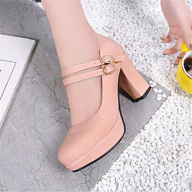 Confort Escarpin Femme Printemps Talon Bout Basique Similicuir à Chaussures Laine rond synthétique Talons 06683645 Noir été Chaussures Bottier wxHqq0Y4B