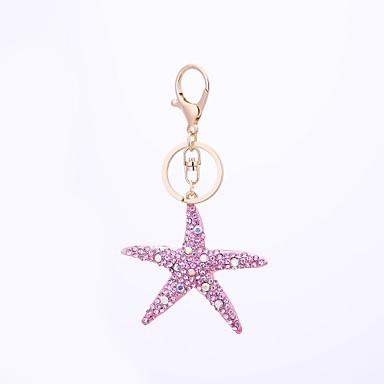 Łańcuszek do kluczy White / Light Blue / Light Pink Rozgwiazda Stop Na co dzień, Modny Na Prezent / Codzienny