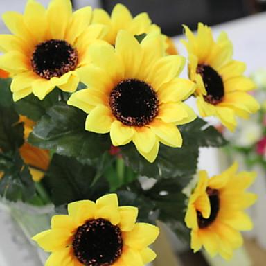 Fleurs artificielles 7 Une succursale Elégant / Rustique Tournesols Corbeille Fleur