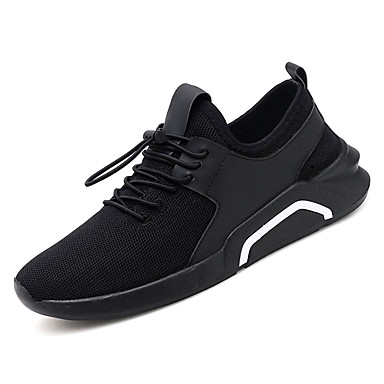Men's Tulle Spring Athletic &  Fall Comfort Athletic Spring Shoes Walking Shoes Black / Red / Black / White 187b6a