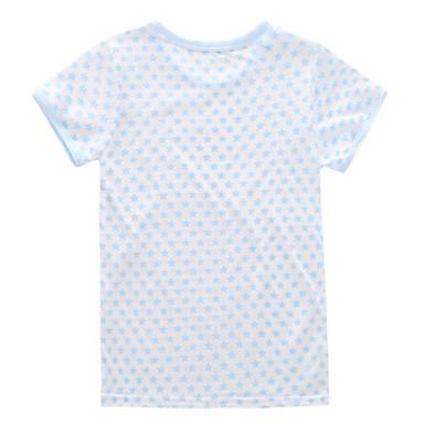 baratos Blusas para Meninas-Infantil Para Meninas Básico Fruta Manga Curta Camiseta Branco