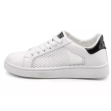 Męskie Komfortowe buty Tiul / PU Lato Adidasy Biały / Czarny biały