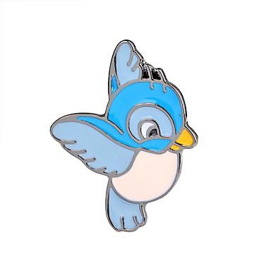 billige Motebrosjer-Nåler - Fugl, Dyr, Flamingo damer, Vintage, Tegneserie, Mote Brosje Smykker Lyseblå Til Aftenselskap / Ut på byen