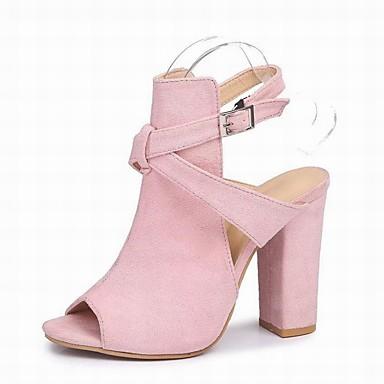 Pentru femei Pantofi Îmbulzesc Vară Pantof cu Berete Sandale Toc Îndesat Negru / Galben / Roz / Party & Seară / Party & Seară