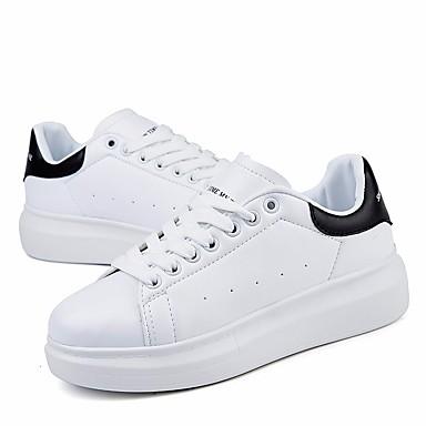 Bout PU Basket Chaussures Rose été Plat de rond 06686868 Argent Talon Vert Femme microfibre Confort synthétique Printemps PSw5q