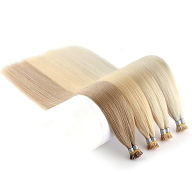 Neitsi Fusion / I Tip Ludzkich włosów rozszerzeniach Prosta Czarny Blond Doczepy z naturalnych włosów Włosy naturalne remy Włosy indyjskie 1 opakowanie Rozbudowa Nowości Gorąca wyprzedaż Damskie