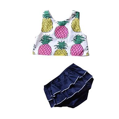 Bebelus Fete De Bază Imprimeu / Fruct Fără manșon Scurt Scurt Bumbac Set Îmbrăcăminte