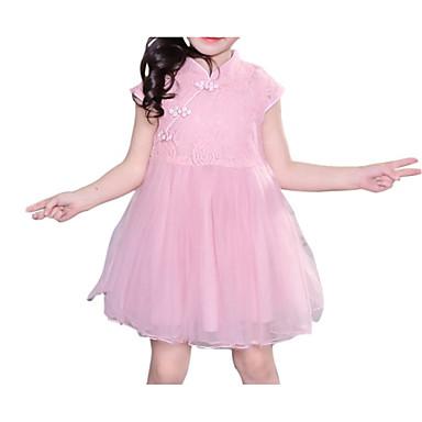 Dzieci Dla dziewczynek Aktywny Jendolity kolor Bez rękawów Sukienka
