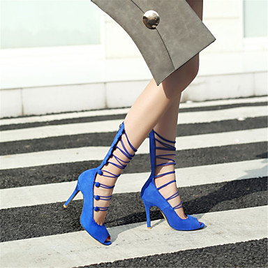 06683641 Confort Printemps Rouge Femme Laine ouvert été Bleu Aiguille royal Chaussures Sandales Noir synthétique Bout Talon XUwXZnpqxt