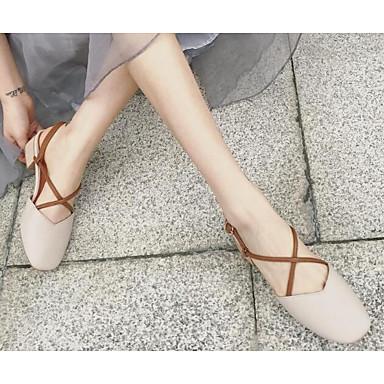 les chaussures de femme des kaka (polyuréthane) le confort d'été des femme sandales chunky talon Rose  / almond 09ca5a