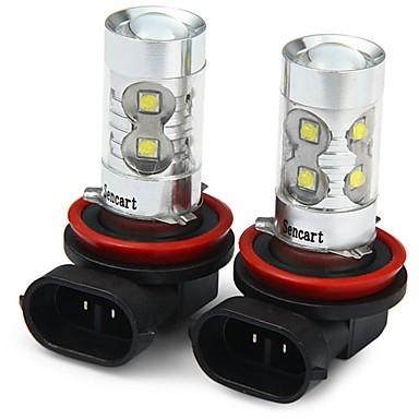billige Motorsykkelbelysning-SENCART 2pcs H11 / H8 Motorsykkel / Bil Elpærer 50W SMD LED 3100lm 10 LED Tåkelys For Universell Alle år