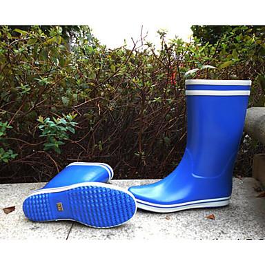 Bourgogne Talon Bleu royal Chaussures Bottes Jaune 06684374 Plat Latex Automne de Femme Bottes pluie 0w7vBBq