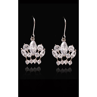 Pentru femei Cristal - Placat Auriu, S925 Sterling Silver Prinţesă, Κορώνα European, Modă Alb și Argintiu Pentru Stradă Concediu