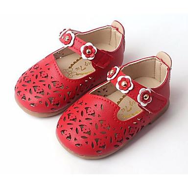Fete Pantofi PU Primăvară Confortabili / Primii Pași Pantofi Flați pentru Bej / Rosu / Roz