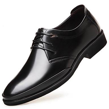 Męskie Buty Nappa Leather / Skórzany Wiosna Comfort Oksfordki Black / Brown
