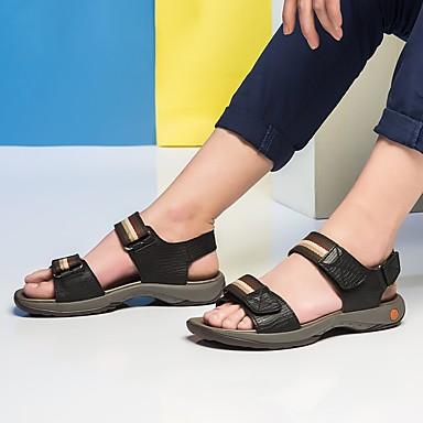 les sandales de cuir noir tricoté / / / brun / confort d'été 6bd64f