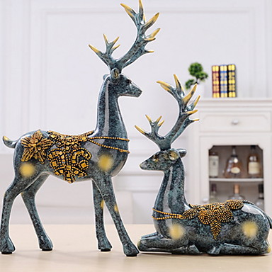 Decoraciones para el hogar metal contempor neo moderno para decoraci n hogare a regalos 2pcs - Decoraciones para el hogar ...
