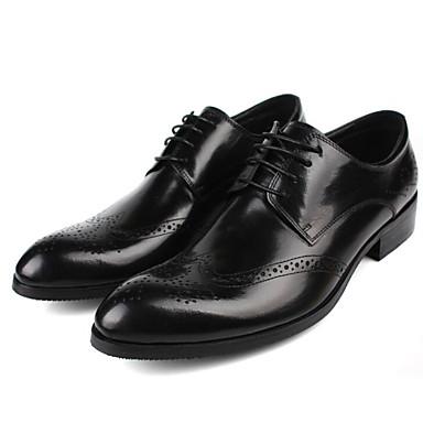 Męskie Komfortowe buty Skóra bydlęca Jesień Oksfordki Czarny / Brązowy