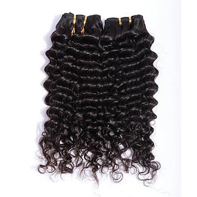 baratos Extensões de Cabelo Natural-3 pacotes Cabelo Eurásio Ondulado 8A Cabelo Humano Extensões de Cabelo Natural Côr Natural Tramas de cabelo humano extensão Venda imperdível Extensões de cabelo humano Todos