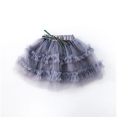 Dziecko Dla dziewczynek Podstawowy Solidne kolory Poliester Spódnica Rumiany róż / Brzdąc