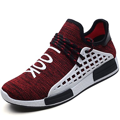 Men's Knit / Customized Materials / Fabric Spring / Fall Black Comfort Sneakers Running Shoes Black Fall / Gray / Red 37562a