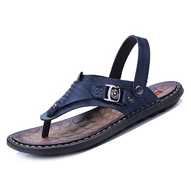 Men's Rubber / Summer Comfort Sandals Black / Rubber Dark Blue / Brown da0275
