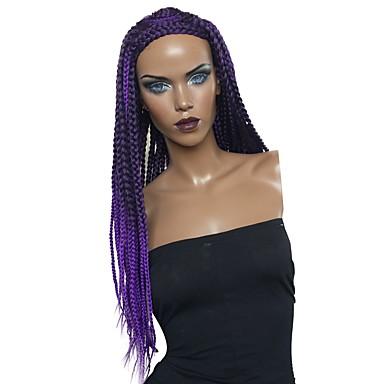 Wig Accessories   Twist Braids Straight Purple Braid Black   Purple  Synthetic Hair Women s Synthetic   dddd626327