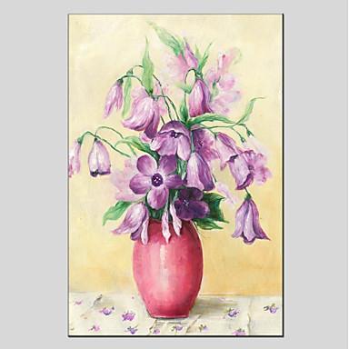 Hang-pictate pictură în ulei Pictat manual - Floral / Botanic Modern pânză