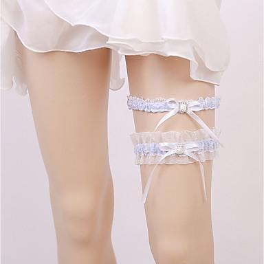Șifon Satinat Stil Vintage Nunta Garter Cu Piatră Semiprețioasă / Șifonat Jartiere Nuntă / Party & Seară