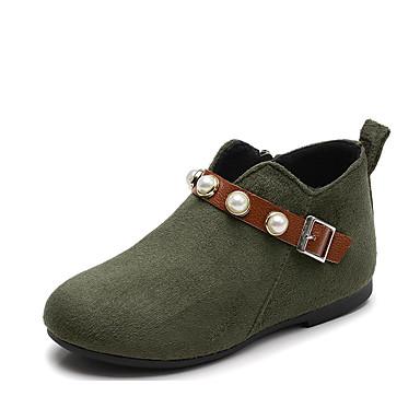 Fete Pantofi Polyester Toamna iarna Cizme la Modă Cizme pentru Verde Militar