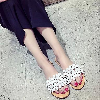 flops Verano Blanco 06700997 Zapatillas Confort Zapatos Plano Tacón PU Mujer y flip Amarillo Rosa nH0fq