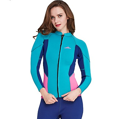 584ac9cc567d Women's Wetsuit Top 2mm Spandex Neoprene Diving Suit Top Waterproof Long  Sleeve Swimming Diving Surfing Solid