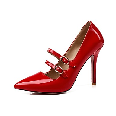 Femme Escarpin Similicuir Basique Talon Chaussures Bout Chaussures Boucle Rouge 06695073 Talons été à Aiguille Rose pointu Printemps Jaune wIIxCgrq