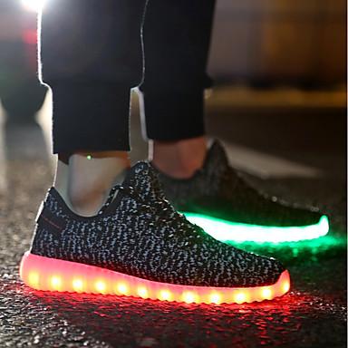 Noir Rouge Eté Plat Chaussures Confort Chaussures amp; Soirée Gris Talon Basket 06785369 Tricot Lumineuses Femme Evénement zCPqC