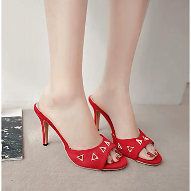 Jaune Femme Rouge Bride Talon Eté Vert ouvert Sandales Cuir Soirée 06697533 Rivet Arrière Chaussures Evénement amp; Bout Aiguille Nubuck A rw6rOXq