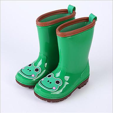 Dla dziewczynek Obuwie Skóra PVC Wiosna lato Gumowce Buciki na Green / Niebieski / Różowy