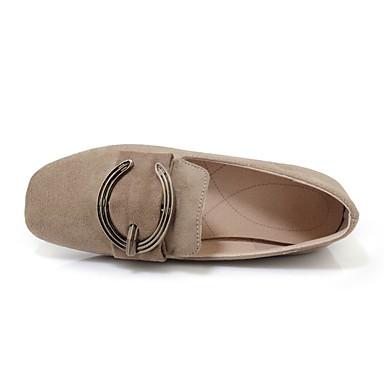 ... Confort Cuir 06660071 Talon carré Gris Plat Bout Automne Noir Femme  Nubuck Chaussures Beige Ballerines Printemps ... 77b3293c2ab6