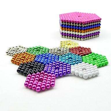 abordables Juguetes y juegos-1000 pcs 5mm Juguetes Magnéticos Bolas magnéticas Juguetes Magnéticos Bloques de Construcción Imán de Neodimio Magnética Alivio del estrés y la ansiedad Juguetes de oficina Alivia ADD, ADHD