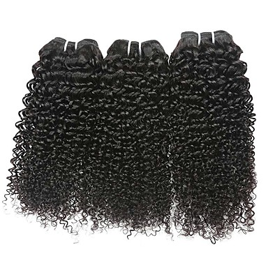 Włosy brazylijskie Falisty Przedłużenia z naturalnych włosów Ludzkie włosy wyplata rozbudowa / Gorąca wyprzedaż Czarny Wszystko