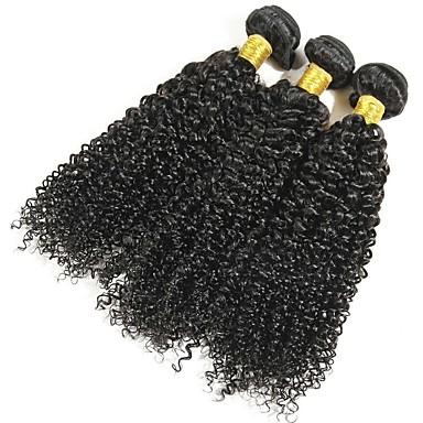 baratos Extensões de Cabelo Natural-3 pacotes Cabelo Eurásio Encaracolado 8A Cabelo Humano Extensões de Cabelo Natural Côr Natural Tramas de cabelo humano extensão Venda imperdível Extensões de cabelo humano Todos