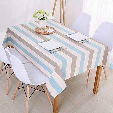 Współczesny PVC Kwadrat Obrusy Prążki Dekoracje stołowe 1 pcs