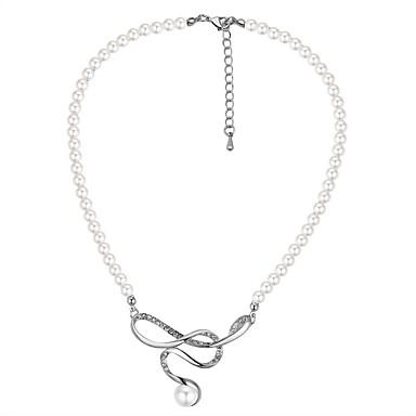 Pentru femei Coliere cu Pandativ - Perle, Imitație de Perle Modă, Elegant Argintiu 40+5 cm Coliere Bijuterii 1 buc Pentru Nuntă, Ieșire