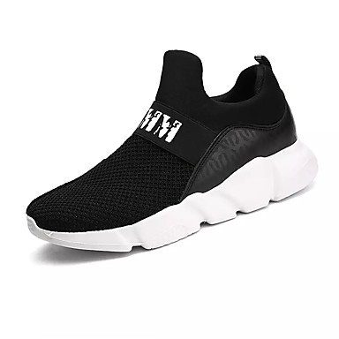 Men's Tulle Athletic / PU(Polyurethane) Fall Comfort Athletic Tulle Shoes Running Shoes White / Black / Gray 14a0f3