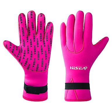 HISEA® Mergulho Luvas 3mm Neopreno Térmico / Quente, Anti-Derrapagem, Confortável Natação / Mergulho / Snorkeling / Com Stretch