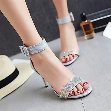 Escarpin Blanc Rose Bout Chaussures Deux ouvert Talon Pièces Basique Femme 06672085 D'Orsay amp; Similicuir Boucle Sandales Aiguille Eté Gris 0qZxBA1