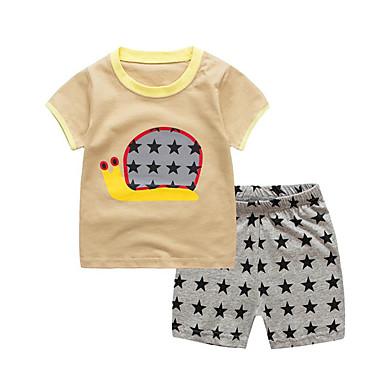 Dzieci / Brzdąc Dla dziewczynek Aktywny / Podstawowy Sport Nadruk Nadruk Krótki rękaw Bawełna Komplet odzieży