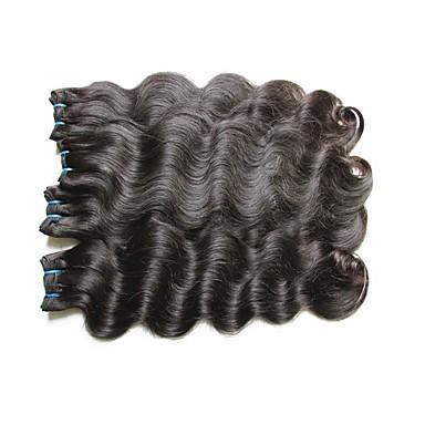 Păr Virgin / Păr Remy țese păr Extention / pentru Femei de Culoare / 100% Virgin Ondulat Păr Brazilian / fascicule 12 inch 400g 12 luni
