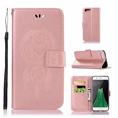 Maska Pentru OPPO R11 Portofel / Titluar Card / Cu Stand Carcasă Telefon Bufniţă Greu PU piele pentru Oppo R11