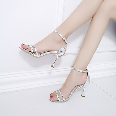 Bout Femme Bride pointu Aiguille de Rivet ouvert Bout Confort Chaussures Automne Marche 06654367 Sandales Polyuréthane Talon Cheville Eté X7xrBqH7