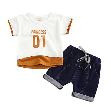 Bebelus Unisex Imprimeu / Peteci Manșon scurt Set Îmbrăcăminte